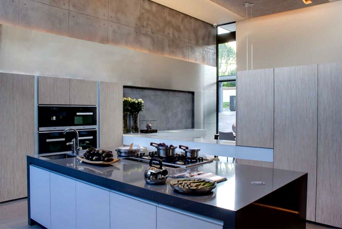 Modern home that emanates luxury and functionality for Luxury kitchen johannesburg