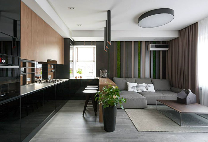 Fresh design of modern urban home by svoya studio interiorzine Contemporary urban living room