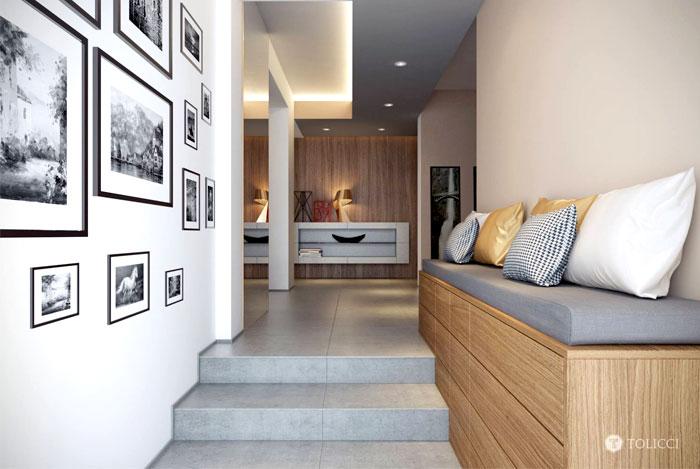 golden-lamp-hallway-space