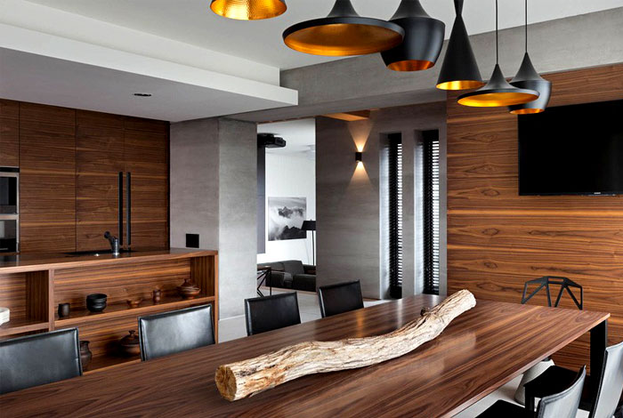 black-copper-lamps-dining-room