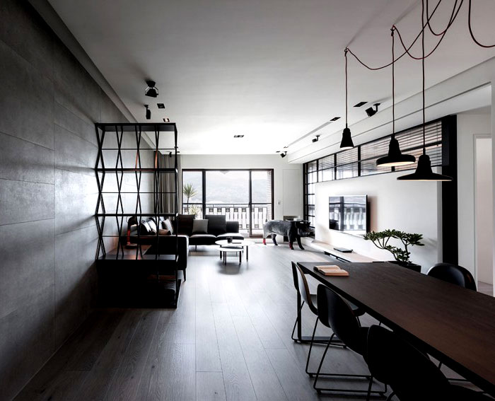 Dark And Moody Apartment Interior