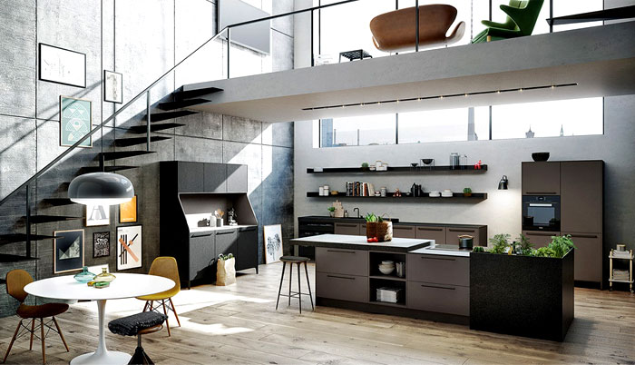 Interior design trends 2015 the dark color schemes are for Ilots centrale de cuisine