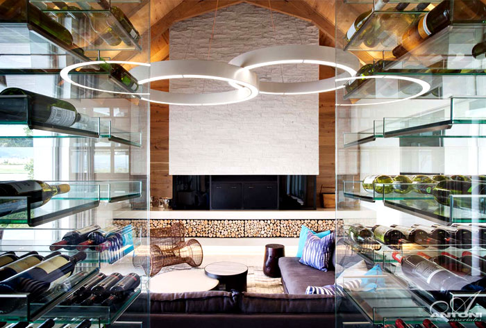 glass-wine-cellar-separates-open-space-living-room