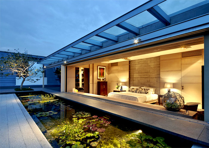 Elegant asian house in singapore interiorzine for Asian architecture house design