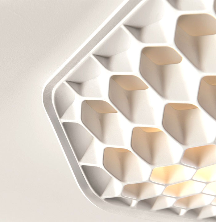 led-lighting-honeycomb-structure