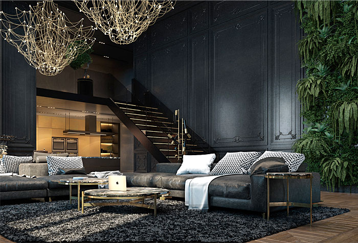 attractive paris apartment interiorzine. Black Bedroom Furniture Sets. Home Design Ideas