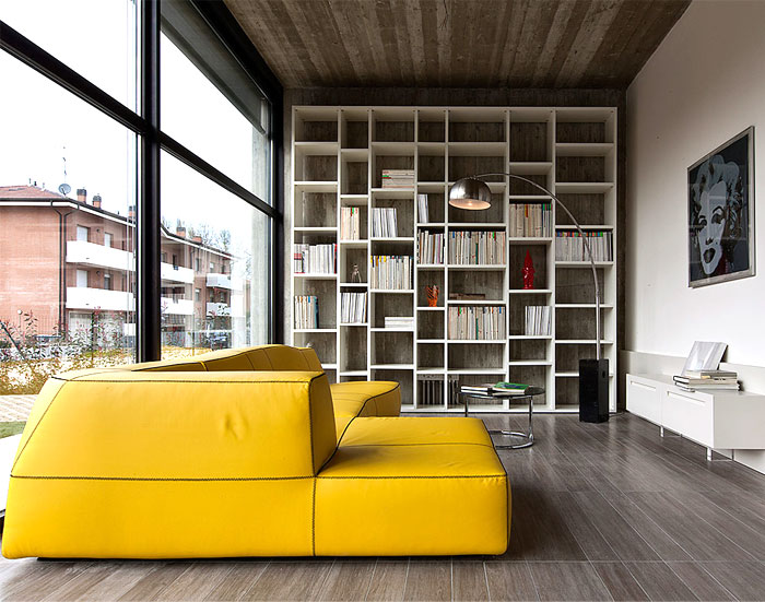 Giraldi associati architetti design a concrete house in bologna interiorzine - Interior designer bologna ...