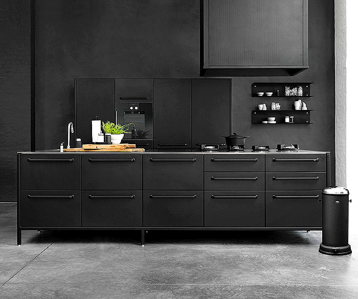 Kitchen design trends 2016 2017 interiorzine for Black kitchen cabinets