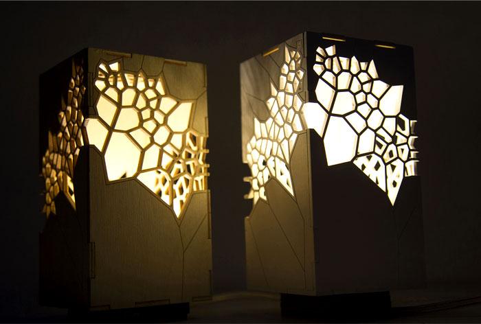 design ideas attic flooring - Voronoi and Delaunay Table Light by Mariam Ayvazyan
