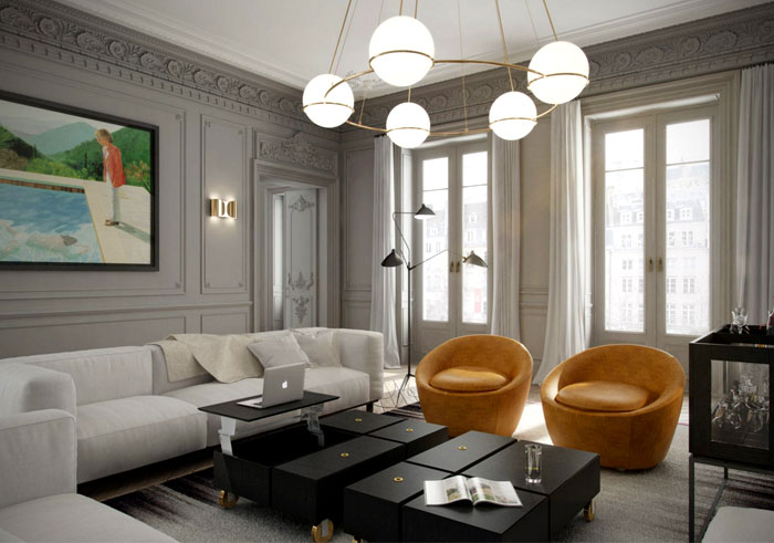 Montparnasse apartment by art buro interiorzine for Buro interior