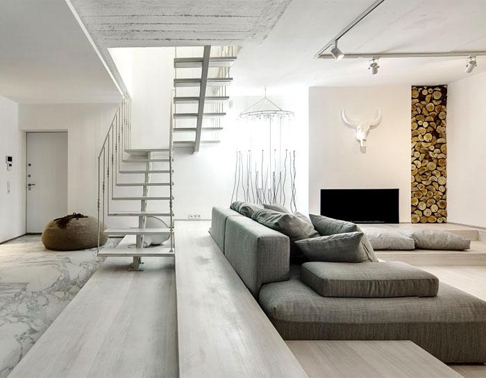 Trendy duplex apartment by form bureau interiorzine for Duplex apartment design