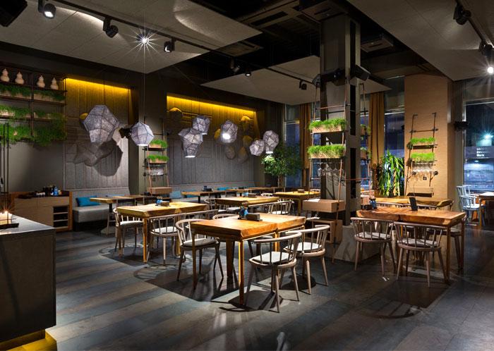 Attractive restaurant decor in kiev by yod design studio for Decoration restaurant
