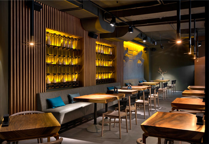 Attractive restaurant decor in kiev by yod design studio interiorzine for Decoration restaurant