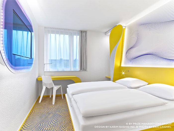 Bonaldo at the new prizeotel hannover interiorzine for Hotel design hannover
