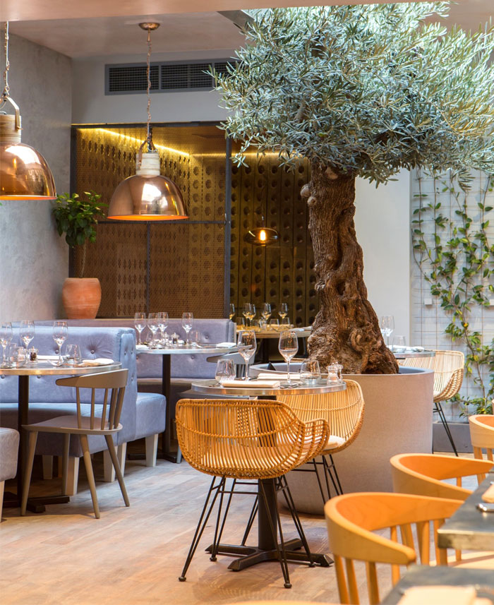 Very organic welcoming restaurant decor by kinnersley