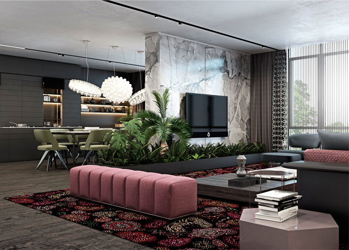 Luxury Apartment Design With Unique Atmosphere Interiorzine