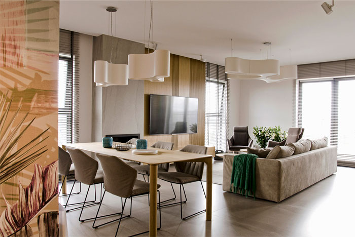 Apartment Decor in Pastel Color Palette by Interno