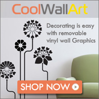 decorating is easy with removable vinyl wall stickers