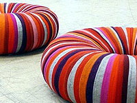 Pouffes Made of Recycled Textiles
