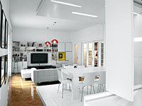 White Apartment by Parasite Studio