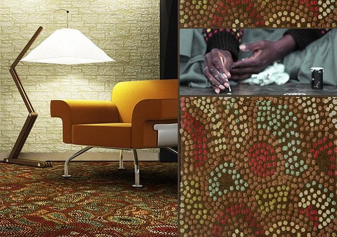 Aboriginal motives carpet