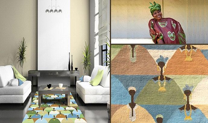 Afro motives carpet