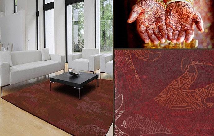 Hindu motives carpet
