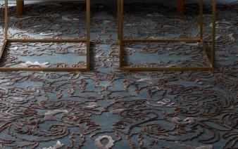 flower motive rug 338x212