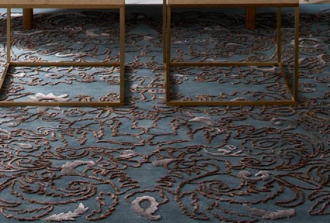 flower motive rug