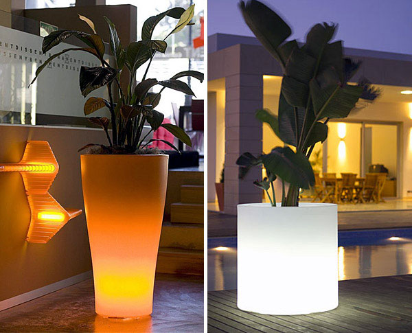 light outdoor garden pots llum