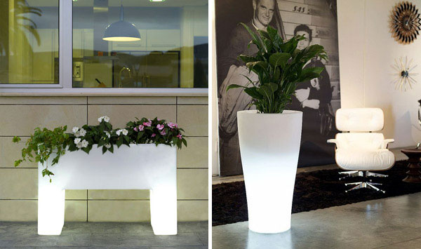 light outdoor garden pots