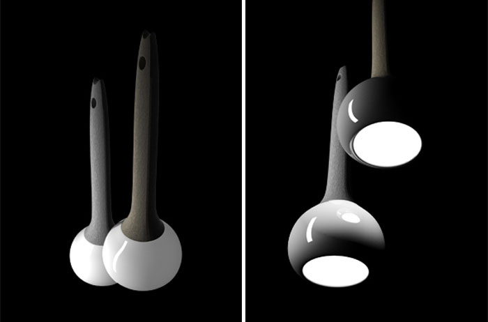 ceramic suspension lamp