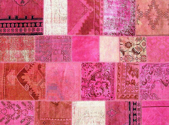 patchwork vintage carpet