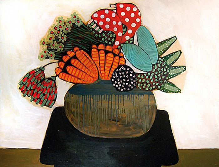 floral arrangement painting
