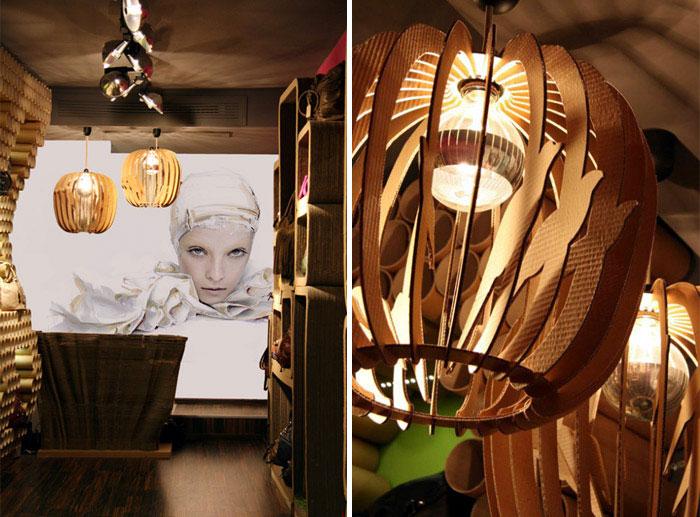 modular lamps cardboard