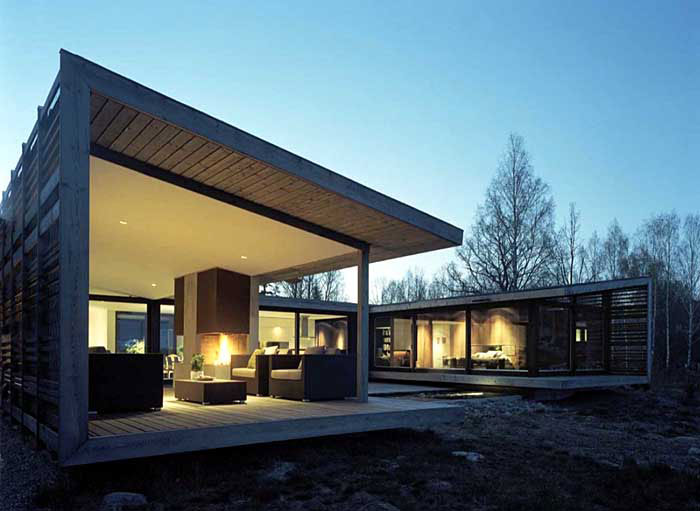 outdoor areas under roof