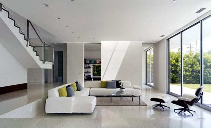 floating staircase livingroom