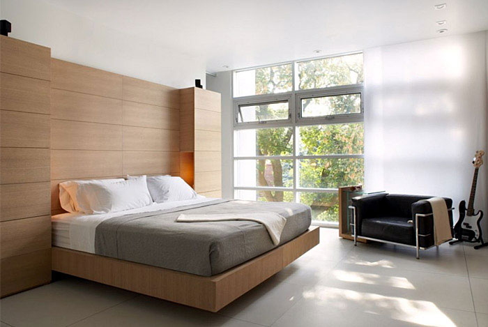 modern furnished bedroom