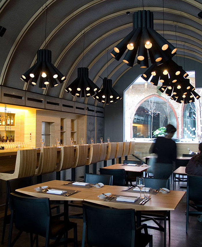wine bar interior lighting