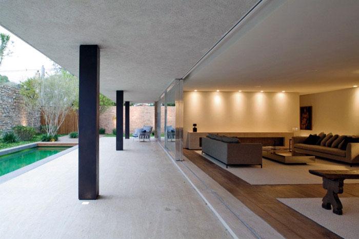 brick house interior