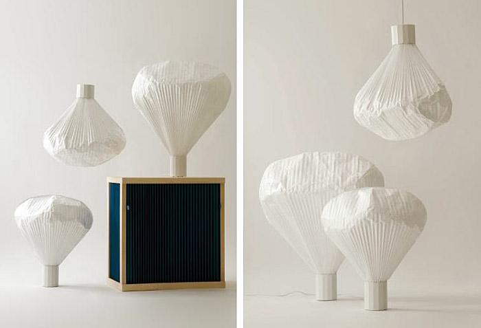 Vapeur Paper Lamp By Inga Semp 233 Interiorzine