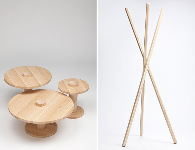 low tables coat rack
