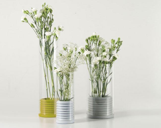 series of vases