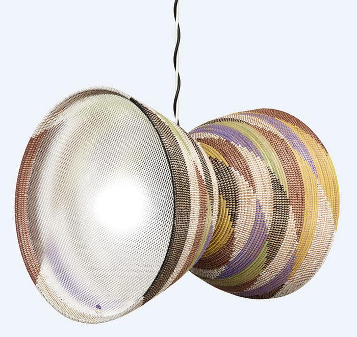 double basket lamp