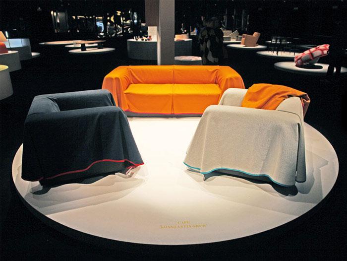 natural way fabric drapes over piece furniture