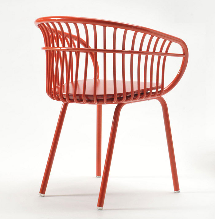 product design curved aluminum chair