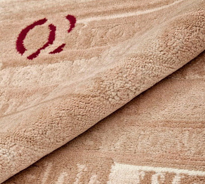 rose dyed rug