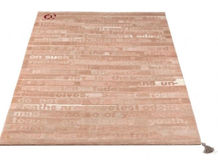shakespeare sonnet rose dyed rug