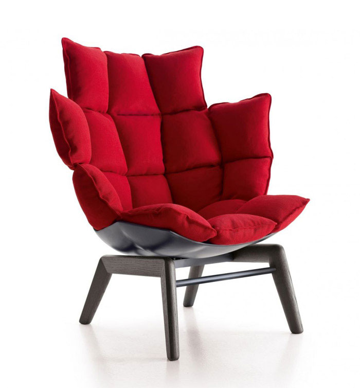 versatile armchair red