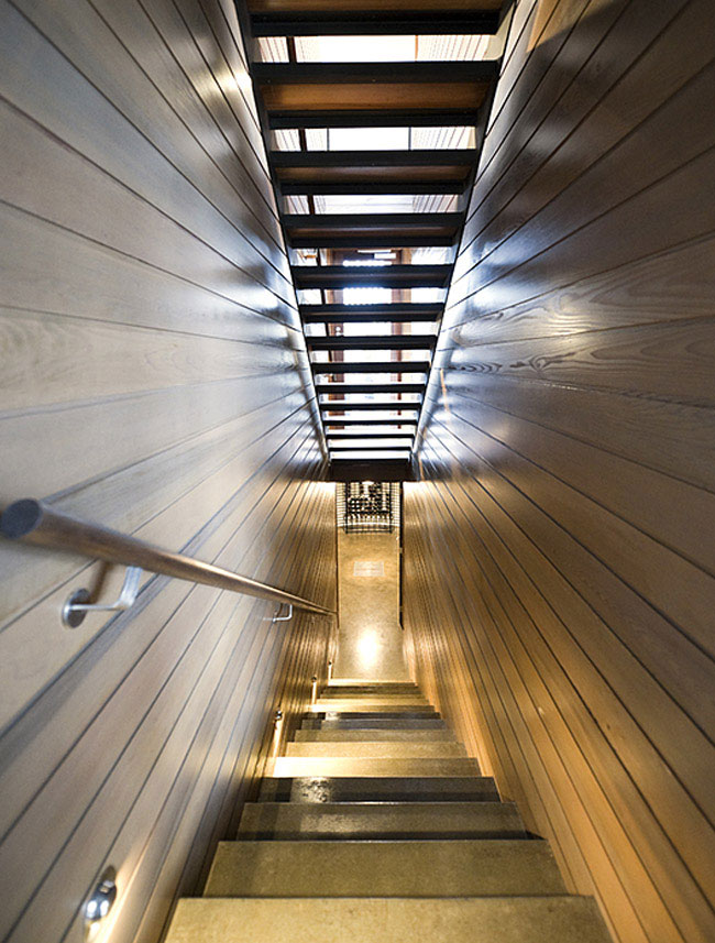 contemporary sculptural house staircase
